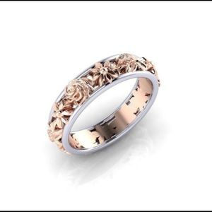 Rose & White Gold Flower band!  So Pretty!!